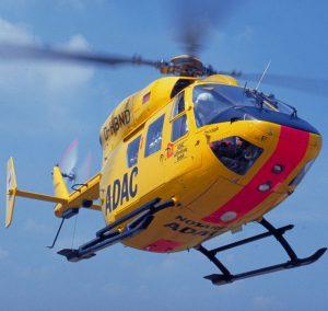 Einsatz des ADAC Rettungshubschraubers